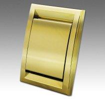 Gniazdo metalizowane DECO złote