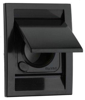 Gniazdo plastikowe DECO, czarne
